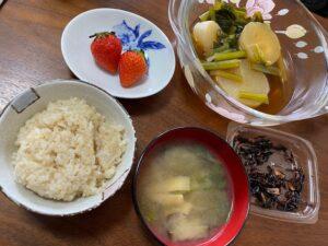 準備食1日目朝食